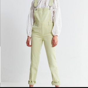 BDG urban outfitters pale green overalls NWT large
